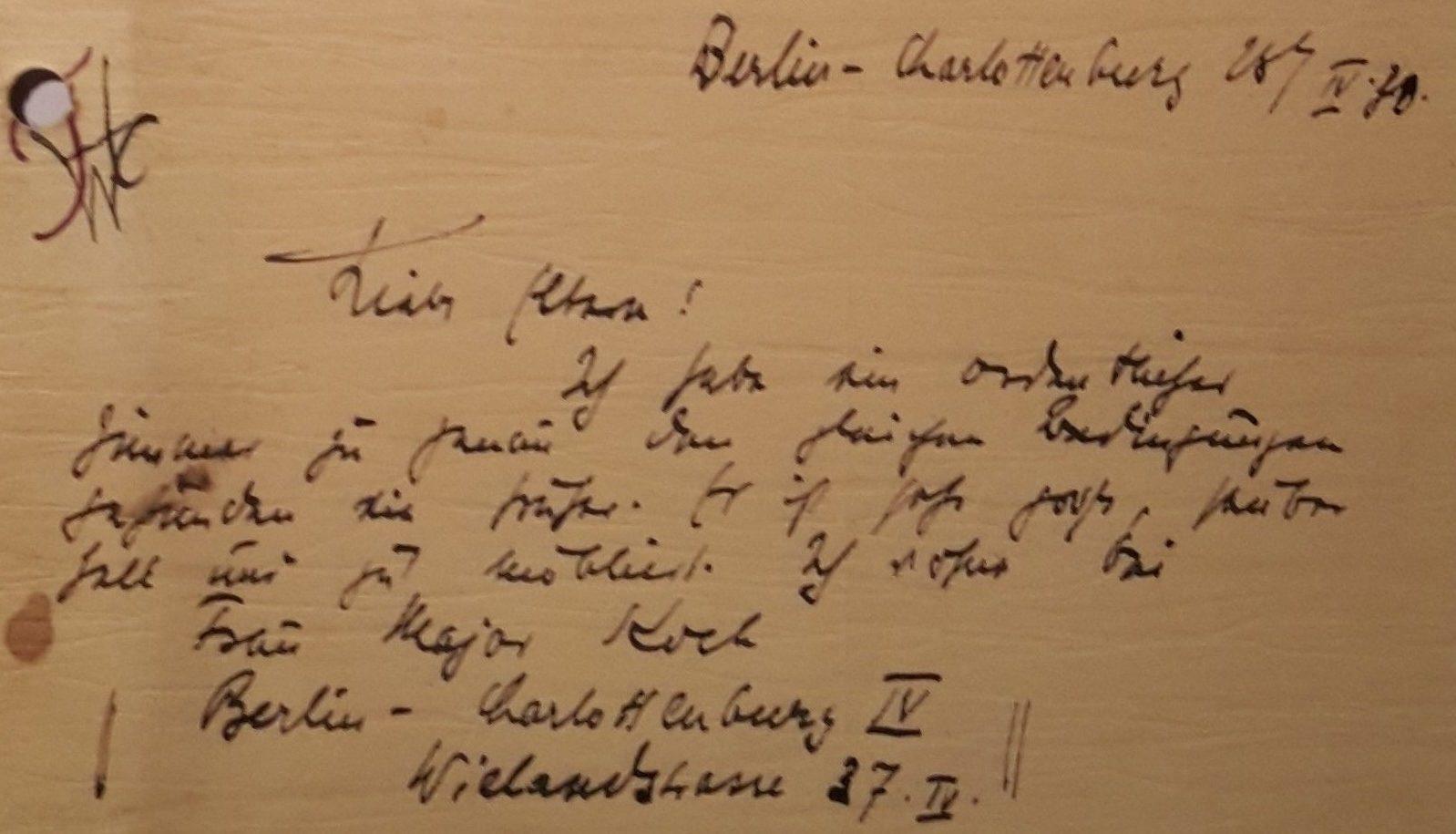 1932 - Briefe aus Berlin UA